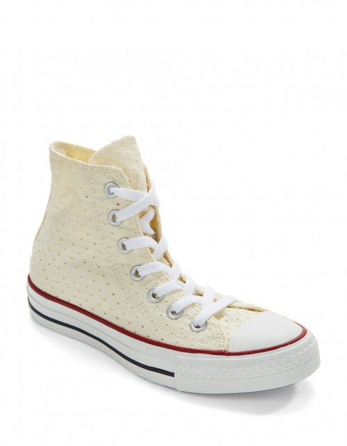 converse beige perforated hi top sneakers product 0 096321263 normal